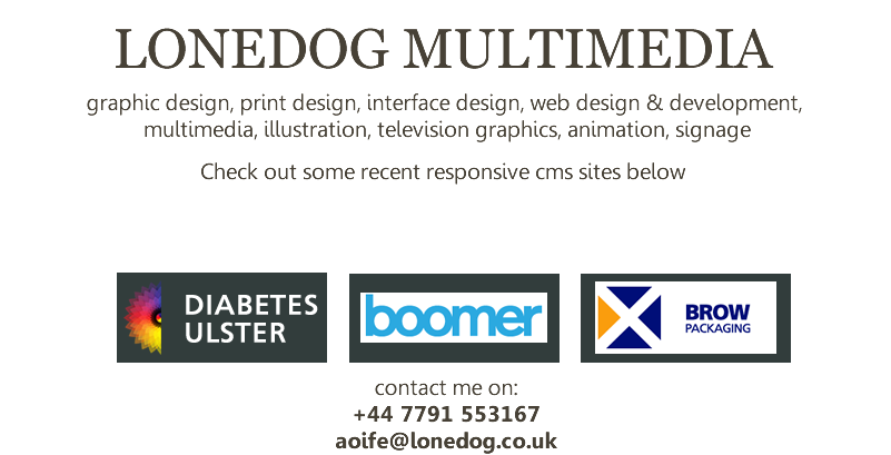 lonedog multimedia - graphic design